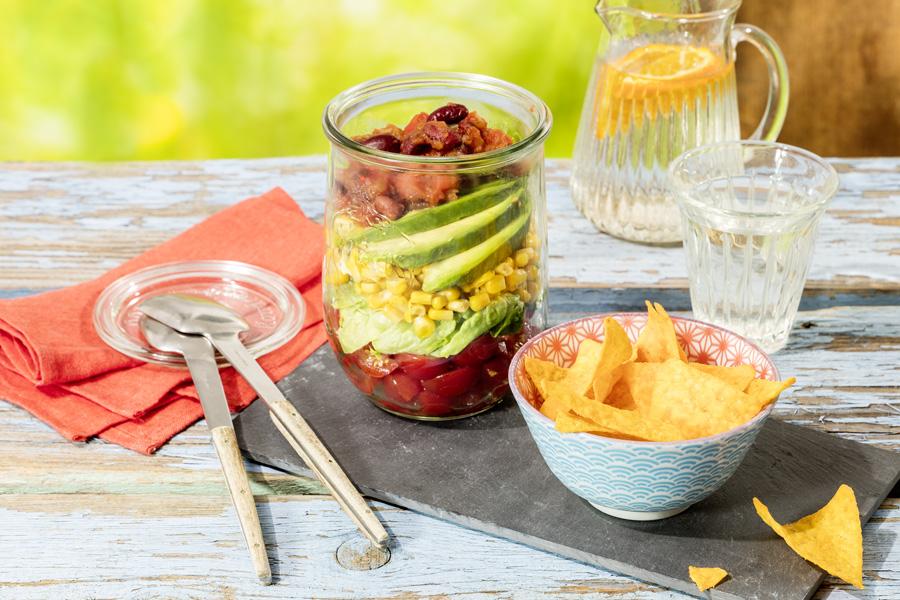 veggie rezept tortilla salat jedes essen z hlt. Black Bedroom Furniture Sets. Home Design Ideas
